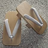 300年の伝統を職人がつなぐ【木曽ねずこ下駄】 男性用 二本歯 グレー柄 伝統工芸品 日本製