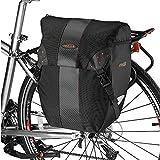 Ibera(イベラ)PakRak自転車用 全天候型パニアバッグ 着脱が容易なクリップ式 レインカバー付き (シングル)