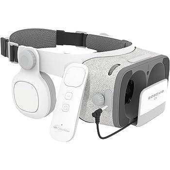 BOBOVR Z5 Daydream View VRゴーグル イヤホン実装 4.7-6.2インチスマホ対応 焦距瞳距離調節可能 9軸ジャイロ交互リモコン付き 3Dメガネ 3Dグラス スマホゴーグル