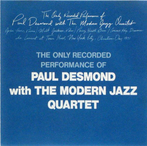 PAUL DESMOND WITH THE MODERNJAZZ QUARTET  MJQ・ウィズ・ポール・デスモンド