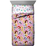 Jay Franco Disney Princess Sassy Twin Comforter - Super Soft Kids Reversible Bedding Features Belle & Sleeping Beauty- Fade R