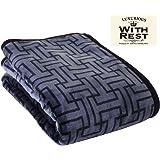 【Amazon.co.jp 限定】昭和西川 毛布 ブルー シングル 肌触りなめらかニューマイヤー毛布 約1200g 2230563330308