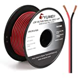 TYUMEN 100FT 20 Gauge 2pin 2 Color Red Black Cable Hookup Electrical Wire LED Strips Extension Wire, 20AWG OFC 12V/24V DC Ext