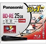2倍速ブルーレイディスク(書換)25GB10枚+50GB1枚P Panasonic パナソニック LM-BE25W11S