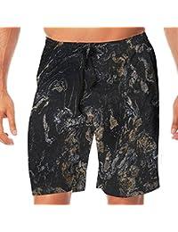 メンズ水着 ビーチショーツ ショートパンツ 抽象的大理石プリント スイムショーツ サーフトランクス 速乾 水陸両用 調節可能
