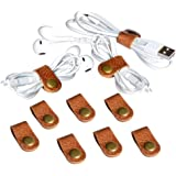 CAILLU 10 Pack cord organizer,cord keeper,cable organizer USB holder,cable management,cable clips,earbud case,wrap headphone,