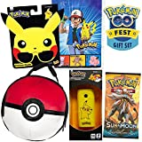 Pikachu Pokemon Go Festギフトセットby colorboxcrate , Includes Pikachuサングラス、ランチバッグ、Pokeball Pokemon Sun Moonカードパック、ポータブルPikachuバックアップ、プラスヴィンテージAsh and Pikachu Pokemonギフトバッグ