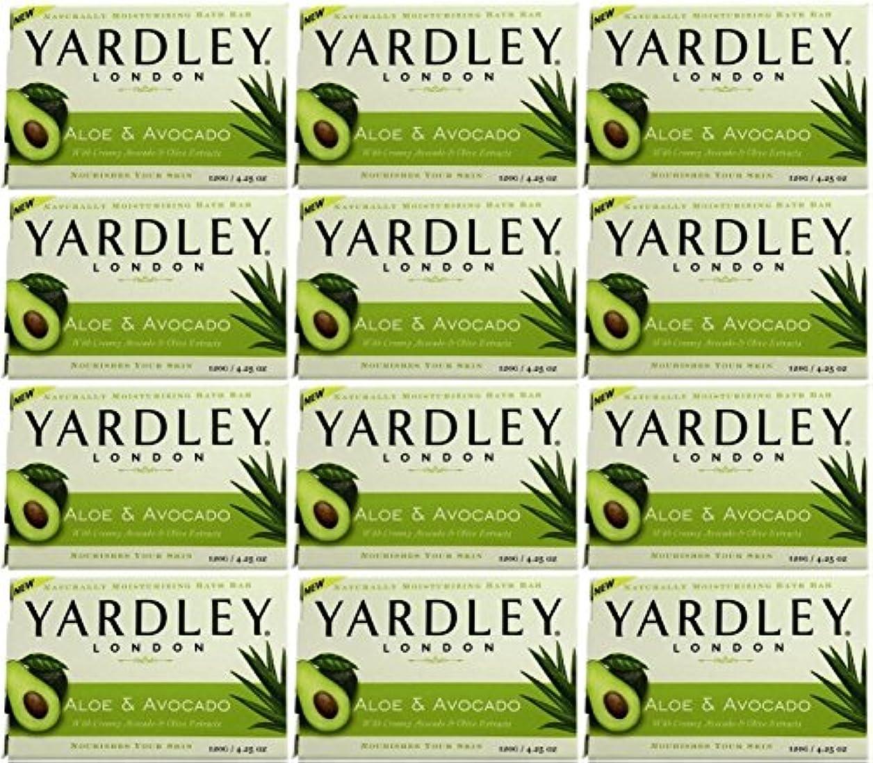 Yardley ロンドンアロエアボカド当然のことながら保湿入浴バー4.25オズ(12パック) 12のパック ヌル
