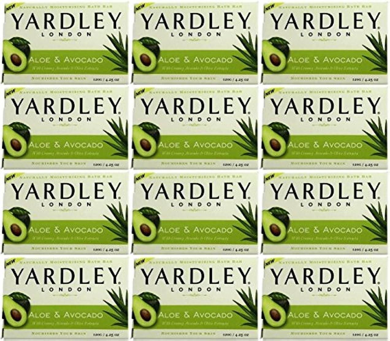 レイア幹画面Yardley ロンドンアロエアボカド当然のことながら保湿入浴バー4.25オズ(12パック) 12のパック ヌル