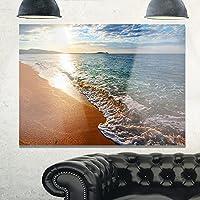 デザインアートmt10362–40–30Gili island tropical beach Large Seashoreメタル壁アート、ブルー、40x 30