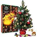 SWEET DIARY クリスマスアドベントカレンダー 2018年 卓上 クリスマスツリー カウントダウン カレンダー 24日 23.6インチ 松の木 キッズ 男の子 女の子 クリスマスギフト DIY クリスマスオーナメント 23個 おもちゃ ホーム オフィス デスクデコレーション