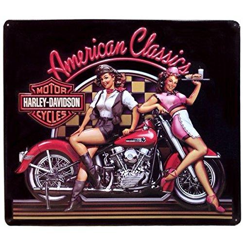 ハーレーダビッドソン ブリキ看板 メタル プレート Harley Davidson -ClassicBabe- バイク アメリカン雑貨 アメリカ 雑貨 ハーレー グッズ 世田谷ベース