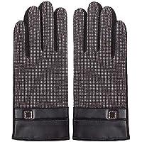 黒い冬の暖かいミトンぬいぐるみの手袋のメンズタッチスクリーン手袋