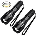 LED Tactical Flashlight, High Lumen Handheld Flashlight Zoomable, Water Resistant, Ultra Bright Tac light with 5 Light...