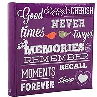 Purple Memo Slip In Photo Album 10 x 15 cm For 200 Photos - MEMORIES - Arpan
