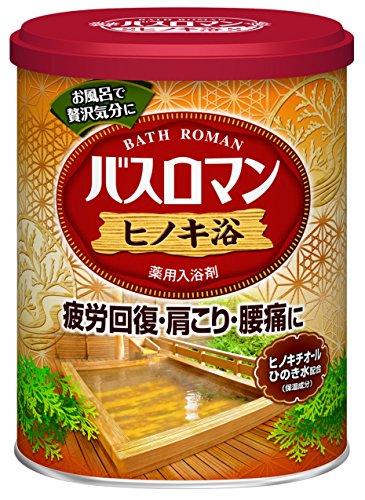 アース製薬 バスロマン 入浴剤 ヒノキ浴 680g [医薬部外品]