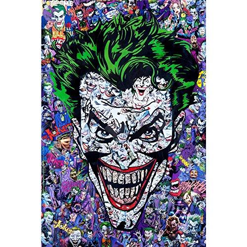 ジョーカー-バットマンDCスーパーヒーローコミックシルクのポスター 24x36インチ [並行輸入品]