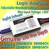 zmart LA1010 USB ロジック アナライザ 100M 最大 サンプルレート 16チャンネル 10Bサンプル MCU ARM FPGA デバッグツール
