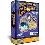 Discover with Dr. Cool Worlds Best Geode Kit - Break 15 Geodes from 5 Different Mines!