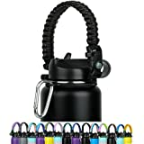 WEREWOLVES Paracord Handle - Fits Wide Mouth Bottles 12oz to 64oz - Durable Carrier, Paracord Carrier Strap Cord with Safety