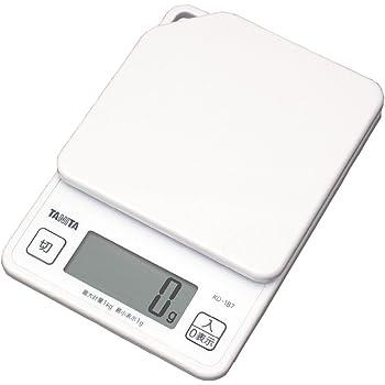 タニタ デジタルクッキングスケール 1kg/1g ホワイト KD-187-WH