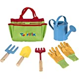 Little Gardener Tool Set with Garden Tools Bag for Kids Gardening - Kit Includes Watering Can, Children Gardening Gloves, Sho