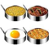 Egg Ring, Kmeivol Stainless Steel Egg Mold, Non Stick Egg Rings for Frying Eggs, Pancake Ring for Cooking Fried Egg, Egg Muff