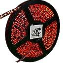 Smile Panda 24V LEDテープ レッド 赤 黒ベース 600連 5m 配線 20cm 0.5sq 防水