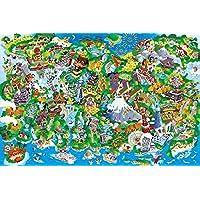 1000ピース ジグソーパズル めざせ!パズルの達人 日本ランドマーク (50x75cm)