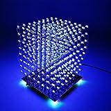 サインスマー (SainSmart)3D LightSquared DIYキット8x8x8 5mm LEDキューブホワイトLED青色スクエア音楽MP3ランプ