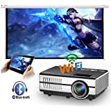 Mini Portable LED Home Theater Bluetooth Wireless HDMI Projector Smart LCD Android Wifi Video Projector HDMI USB VGA Audio Ai