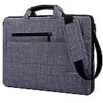 ビジネスバッグ,BRINCHノートパソコンケース 持ち便利軽量 インナーバッグ シンプル防水防震防圧クッション内蔵 スリーブ (グレー, 15.6インチ)