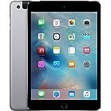 Apple iPad Mini 4, 128GB, Space Gray - WiFi + Cellular (Renewed)