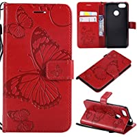 Phoebe Huawei P9 Lite Mini Case, Anti-Scratch, Shockproof バックシェル, Excellent Grip Case Ultra Thin and Slim back Case Carry Case アクセサリー - Red