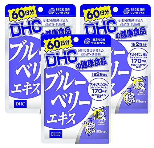 【セット品】DHC ブルーベリーエキス 60日分 120粒 3袋セット