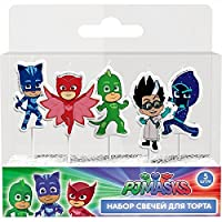 PJ Masks Molded Pick Candle Set (5ct) Birthday Party Supplies Cake Topper Decoration 【You&Me】 [並行輸入品]
