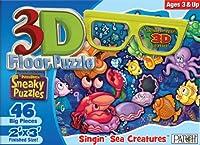 "3D Sneaky Floor Puzzle 46pcs 24""X36""-Singin' Sea Creatures"