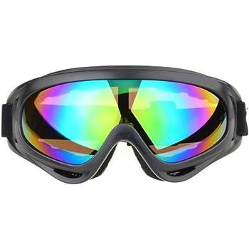 (アクアランド) AQUALAND タクティカルゴーグル サバゲー スポーツ 目保護 バイク UVカット 眼 目 メガネ スノボー スキー ウィンタースポーツ (レインボー)