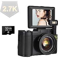 デジカメ デジタルカメラ ビデオカメラ 2.7K 30MP 4X 128GBMicroSDカード対応 コンパクトデジタル…