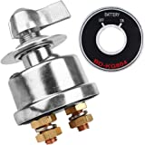 LotFancy High Current Battery Disconnect Switch, 12V Battery Isolator Switch with Copper Contacts, 2 Post 125 Amps Cut/Shut-o