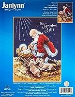 Janlynn Counted Cross Stitch Kit, Kneeling Santa [並行輸入品]