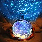 LEDナイトライト プロジェクター ナイトライト 簡易プラネタリウム スポットライト 美しい宇宙 360度回転 夜間ライト 卓上スタンド ..