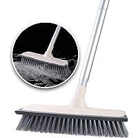 デッキブラシ ランダ掃除用ブラシ ウォータースクレーパー 浴室掃除用ブラシ 掃除用品 清掃用品 2 in 1 水切りワイ…