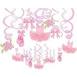 Ballerina Birthday Party Decorations Ballerina Birthday Party Supplies Pink Tutus Ballet Shoes Bow-knot Rose Ballerina Birthd