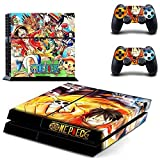 MightySticker? PS4 Designer Skin Game Console p 2 Controller Decal Vinyl Protective Covers Stickers f Sony PlayStation 4 One Piece Anime Monkey D. Luffy Straw Hat Nami Robin Sanji Brook Zoro Chopper by MightySticker? [並行輸入品]