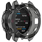 RuenTech Protector Compatible with Garmin Fenix 6/6 Pro/Fenix 6 Sapphire Case Cover TPU Shatter-Resistant Protective Case for