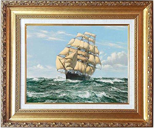 ドーソン[世界の名画コレクション]『カティサーク』複製画 風景画 帆船 舟 航海 セイル ヨット クリッパー マスト イギリス 海 波【B2826】