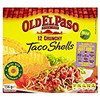 Old El Paso Crunchy Taco Shells (12 per pack) 古いエルパソカリカリタコスの皮(パックあたり12 )