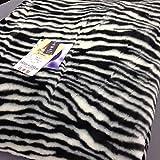 京都西川 ローズアクリル毛布 ブランケット 一重 シングル ANL2511 アニマル ゼブラ柄  日本製 (ゼブラ柄(白))