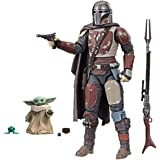 Star Wars The Black Series The Mandalorian 6 Scale Collectible Action Figure Bundle with The Child 1.1 inch Action Figure